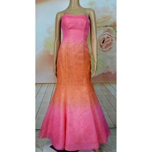 Morgan & Co. by Linda Bernell Ombre Gown Sz 3/4